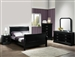 Louis Philip Youth Marble 4 Piece Bedroom Set in Black Finish by Crown Mark - B3780-T