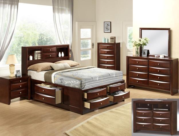 Emily Storage Captain Bed 6 Piece Bedroom Suite In