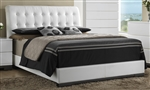 Avery Upholstered Bed in White Finish by Crown Mark - B4850-Bed