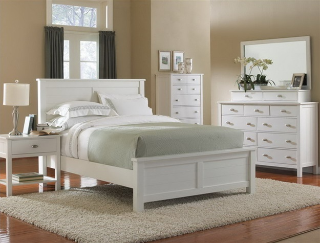 Carey Piece Bedroom Suite In Linen White Finish By Crown Mark