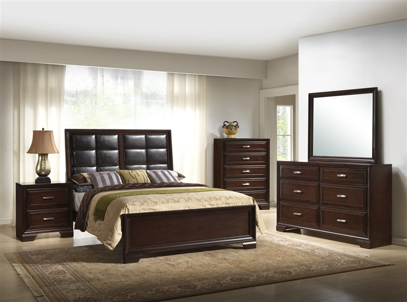 Jacob 6 Piece Bedroom Suite In Espresso Finish By Crown