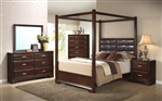 Jacob Canopy Bed 6 Piece Bedroom Suite in Espresso Finish by Crown Mark - B6540