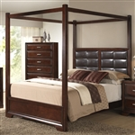 Jacob Canopy Bed in Espresso Finish by Crown Mark - B6540-Bed