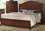 Alma Bed in Warm Cherry Finish by Crown Mark - B6600-Bed