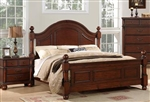 Augusta Poster Bed in Walnut Finish by Crown Mark - B7800-Bed