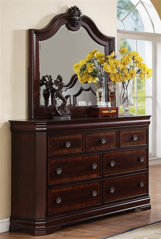 Bedroom Packages: Charlotte 6 Piece Bedroom Suite In Cherry Finish By Crown