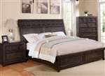 Asher Bed in Dark Grey Finish by Crown Mark - B8480-Bed