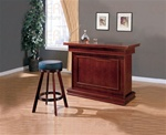 3 Piece Game Table Bar Unit in Cherry Finish by Coaster - 100129