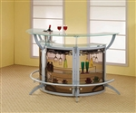 3 Piece Contemporary Bar Unit by Coaster - 100135-S3