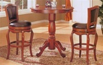 Cherry Finish Counter Height 3 Piece Bar Table Set by Coaster - 100268