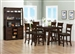 Julius 5 Piece Counter Height Dining Set in Rustic Walnut Finish by Coaster - 100458