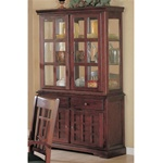 Newhouse Buffet & Hutch in Cherry Finish by Coaster - 100504