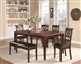 Dunham 5 Piece Dining Set in Cherry Finish by Coaster - 100641