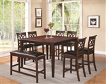 Dunham 5 Piece Counter Height Dining Set in Cherry Finish by Coaster - 100648