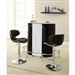 Black and White Bar Unit by Coaster - 100654