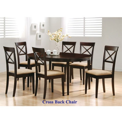 7 Piece Dining Set with Oval Table Top and in Rich  : COA 100770 4 from www.homecinemacenter.com size 500 x 500 jpeg 63kB
