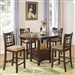 Lavon 5 Piece Counter Height Dining Set in Warm Brown Finish by Coaster - 100888N