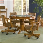 Three In One Bumper/Poker/Dining 5 Piece Table Set in Oak Finish by Coaster -100951