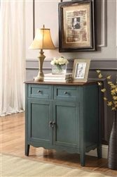 Accent Wine Cabinet in Vintage Blue Finish by Coaster - 101046
