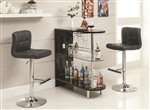 Black Finish Bar Table by Coaster - 101063
