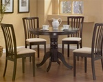 Cappuccino Finish Round Table 5 Piece Dining Set by Coaster -101081