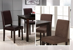 5 Piece Dining Set in Rich Cappuccino Finish by Coaster - 101341