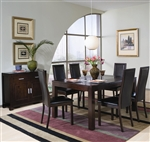 Annetta 5 Piece Dining Set in Cappuccino Finish by Coaster - 101391