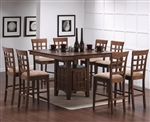 Gabriel 5 Piece Counter Height Table Set in Chestnut Finish by Coaster - 101438-L