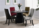 Amhurst 5 Piece Dining Set in Black Satin Finish by Coaster - 101590