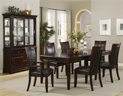 7 Piece Ramona Dining Set in Warm Walnut Finish by Coaster - 101631