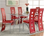 Los Feliz Glass Top 5 Piece Dining Table Set by Coaster - 101683
