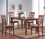 5 Piece Dining Set in Warm Walnut Finish by Coaster - 101771