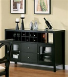 Bell Glass Top Server in Rich Black Finish by Coaster - 101995