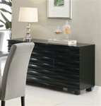 Stanton Server in Rich Black Finish by Coaster - 102065