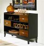 Boyer Server in Black and Cherry Finish by Coaster - 102095
