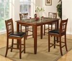5 Piece Counter Height Dining Set in Cherry Finish by Coaster - 102188