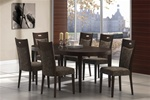 Chutney 5 Piece Dining Set in Rich Walnut Finish by Coaster - 102211