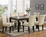 Carter 5 Piece Dining Set in Deep Cappuccino Finish by Coaster - 102260CR