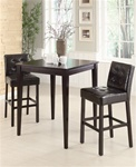 Brown 3 Piece Pub Table Set in Cappuccino Finish by Coaster - 102576