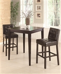 Cappuccino 3 Piece Pub Table Set by Coaster - 102587