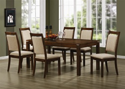 7 Piece Dining Set in Medium Brown Finish by Coaster - 102591