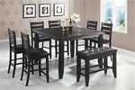 Dalila 6 Piece Counter Height Dining Set in Cappuccino Finish by Coaster - 102728