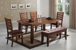 6 Piece Dining Set in Antique Oak Finish by Coaster - 102731