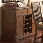Dorris Server in Warm Oak Finish by Coaster - 102805