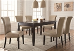 Newbridge 7 Piece Dining Set in Cappuccino Finish by Coaster - 102883