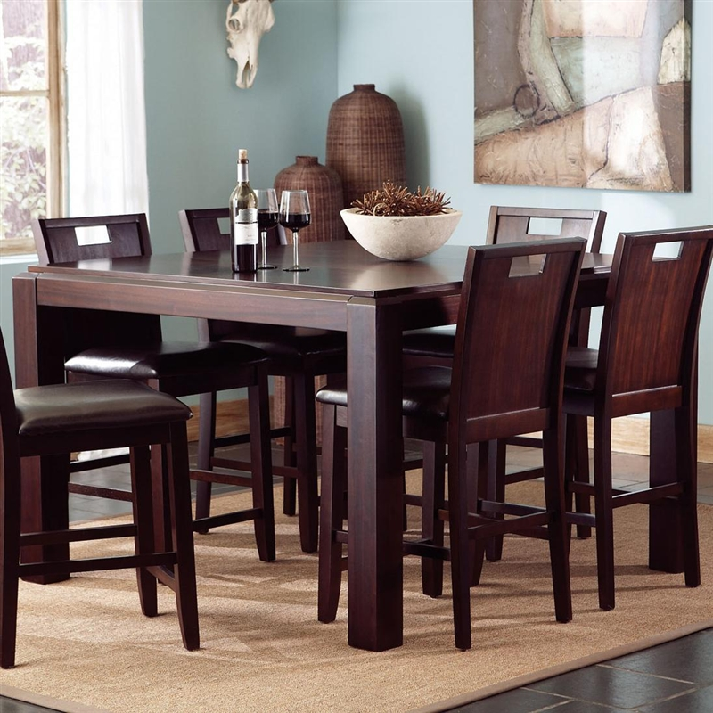 Prewitt 7 Pc Counter Height Dining Set In Espresso Finish By Coaster    102948