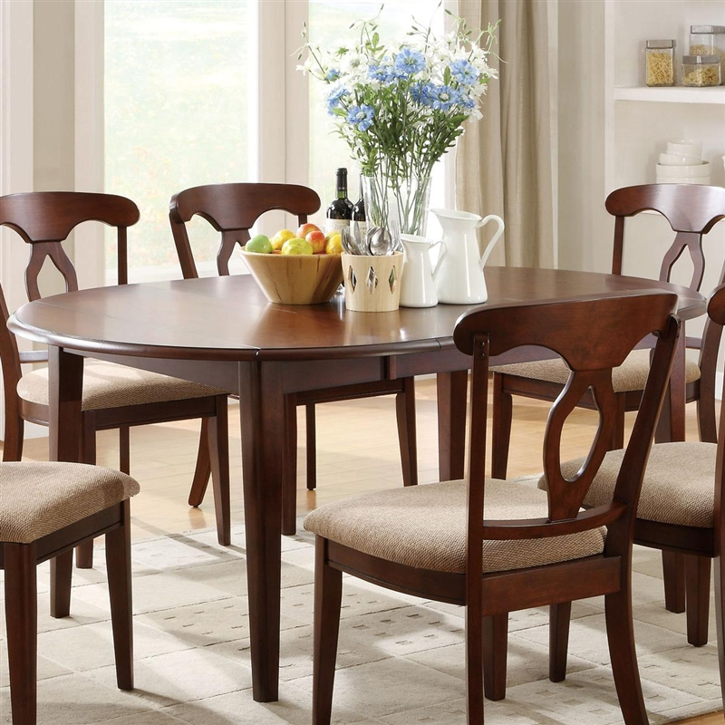 Liam 5 Pc Space Saver Dining Set In Cherry Finish By