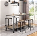 Multipurpose Industrial Kitchen Island in Rustic Light Brown and Gunmetal Finish by Coaster - 102998