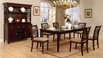 Hester 7 Piece Dining Set in Dark Mahogany Finish by Coaster - 103031