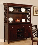 Hester China in Dark Mahogany Finish by Coaster - 103034